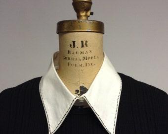White Cotton Collar