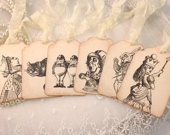 Alice Gift Tags Wonderland Assorted Set of 10