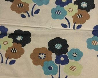 Seventies vintage retro fabric - 85x45 cm.