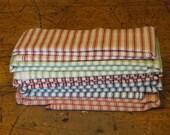 Ticking Fabric Bundle   Cotton Fabric   Scrap Fabric   Craft Fabric   Home Decor Fabric   Quilt Fabric   Apparel Fabric   Stripe Fabric