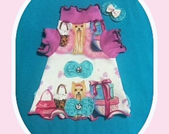 Pet Clothing All Done Spoonflower Dress Ready to Ship