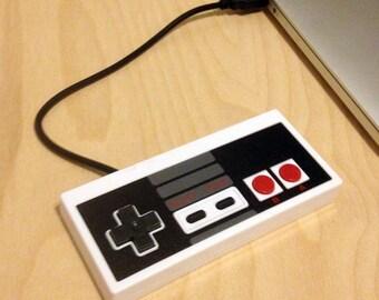 Flash Drive, USB Drive, USB Flash Drive, Thumb Drive, Jump Drive, Nintendo Controller Flash Drive, NES Drive, 16GB, 32GB, 64GB, 128GB