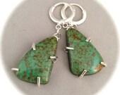 Turquoise Earrings #1, Kingman Turquoise, Gemstone Jewelry, Artisan