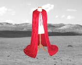 Red Cloak - Little Red Riding Hood -  Velvet - Wedding - Prom - Renaissance Festival Christmas