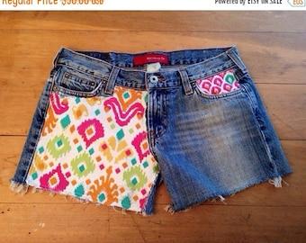 KYEbags Aztec Denim Shorts