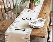 Painter's Drop Cloth Canvas Ruler Table Runner