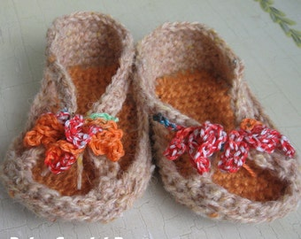 Baby Crochet Sandal Pattern With Bow Trim Baby Thru Toddler Crochet Summer Slipper Multi- Sized Crochet Pattern Instant Download