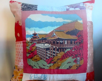 Vintage Japanese fabric European cushion cover