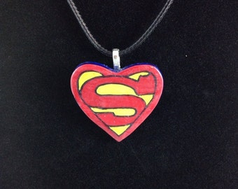 Superman Inspired Pendant