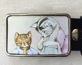 Belt Buckle.  Gifts for cat lovers.   Belt Buckles for men and women.   Hello Kitty!