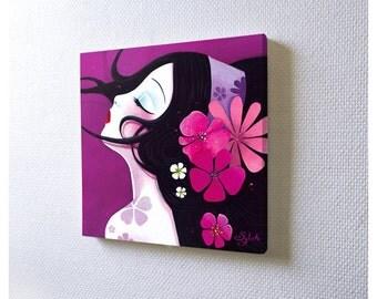 Mini acrylic painting: Harmonia