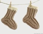 CROCHET PATTERN - Sew Simple Baby Socks - Instant Download (PDF)