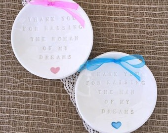 Mother of the Bride - Mother of the Groom  - Thank You For Raising - Wedding Keepsake Set - Mother Wedding Gift