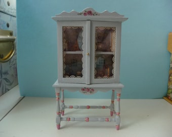 Charming 1 Inch Scale Dollhouse Cabinet