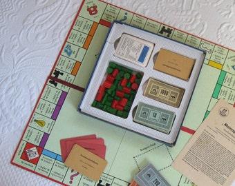 monopoly . german monopoly game . vintage Board Game . monopoly game . german monopoly game . german language