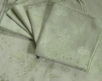 celery green napkins green damask napkins . lot of 5 . 5 may green napkins . butterfly napkins . 5 damask napkins