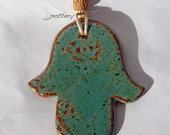 Ornament, Handmade Ornament, Hamsa Ornament, Ceramic ornament, Hamsa hand ornament, Khamsa Ornament, gift, House warming gift
