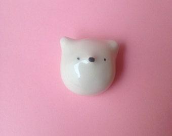 2 Bear ceramic knob (pair)