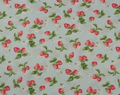 4199 - Cath Kidston Strawberry Cotton Fabric - 53 Inch (Width) x 1/2 Yard (Length)