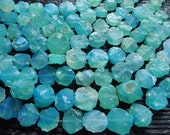aqua chalcedony beads, raw chalcedony beads, blue chalcedony beads, rough aqua chalcedony beads, chalcedony nuggets, agate stone beads