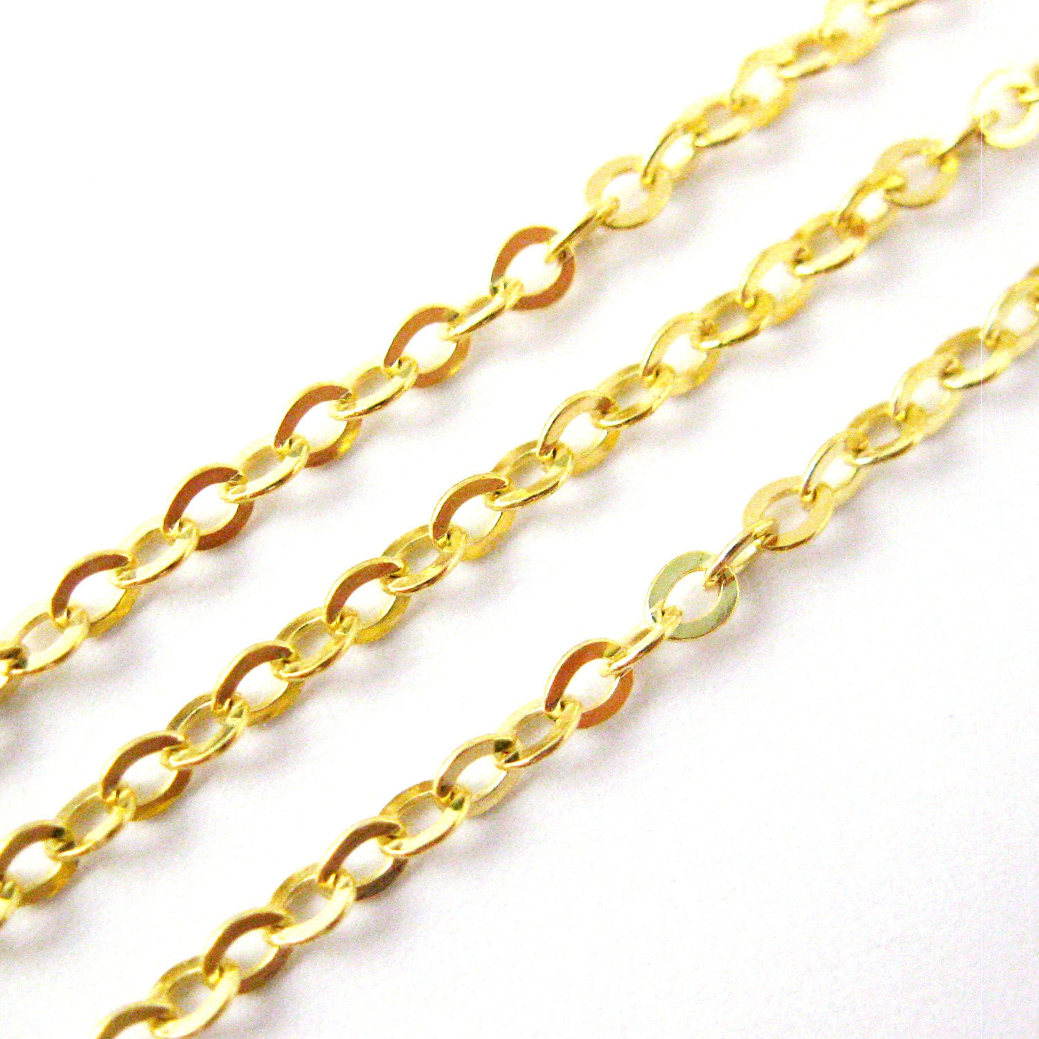 Gold chain 22k gold plated sterling silver vermeil for Bulk jewelry chain canada