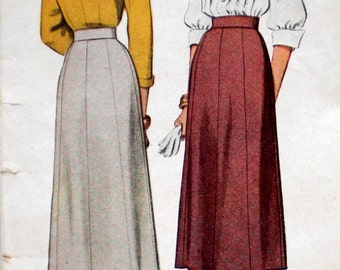 Vintage 1940s Gored Skirt Pattern McCall 7338 Waist 24 Hip 35 Eight Gore Skirt Pattern Factory Folded