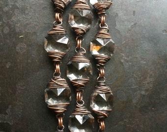 Wire Wrap Bracelet Wire Wrapped Crystal Bracelet Rustic Jewelry DanielleRoseBean Wrapped Bracelet