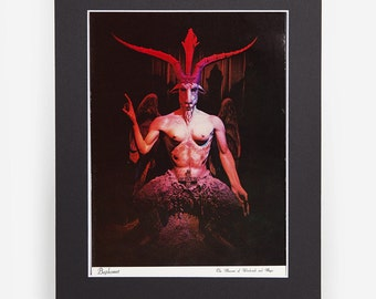 Loved to Death Baphomet Original Color Large Card In Matted Sleeve