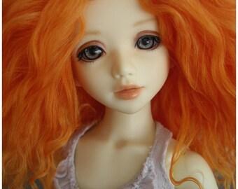 "Carrot tibetan mohair wig size 6/6,5"" for unoa/ littlefee/ narae"
