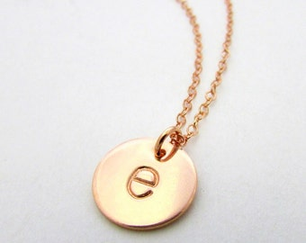 rose gold initial necklace letter charm necklace 14k rose gold filled e ria designs