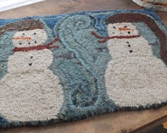 Primitive Hooked Rug- My Friends R Flakey