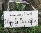WEDDING SIGNS, Happily Ever After, Ring Bearer Signs, Flower Girl Signs, Mr. and Mrs Signs, 5.5 x 11.5