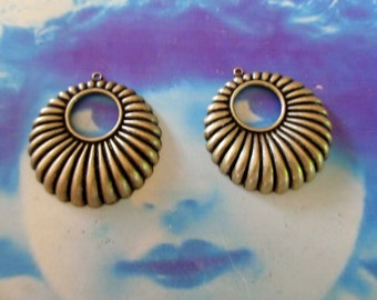 Brass Ox Plated Brass Boho Style Hoop Stampings 1177BOX x2