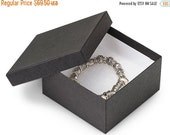 4th of July SALE 100 Pack 3.5 X 3.5 X 2 Inch Matte Black Size Cotton Filled Jewelry Presentation Gift Boxes