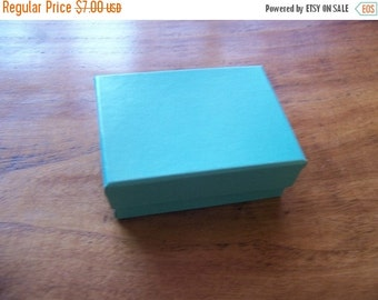 Valentines Day Sale 20 Pack of 3.25X2.25X1 Inch Size Teal Cotton Filled Jewelry Gift Merchandise Boxes