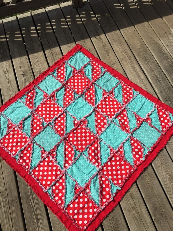 Houndstooth Rag Quilt PATTERN for Crib Quilt or Toddler Bedding SEWING Instructions, Instant Download - Houndstooth Quilt Pattern Simple