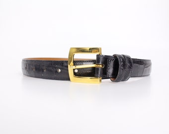 Vintage Embossed Leather Belt | Joan and David Calfskin Belt | Made in Italy | S