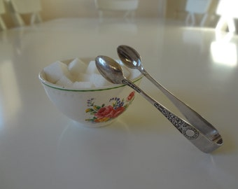 Sugar Tongs Silverplate Silver Plate Vintage  Afternoon Tea  - EnglishPreserves