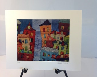 """Town- 11""""x14"""" Reproduction"""