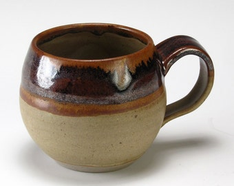Brown And Tan Bubble Cup