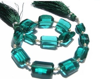 50% Off Valentine day 8 Inches -  AAA Teal Blue Quartz Step Cut Faceted Nuggets Size 14x9 - 16x12mm approx