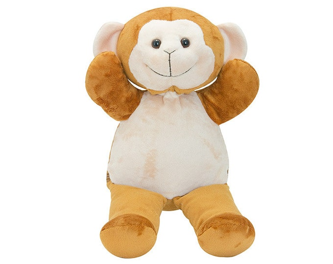 For The Little Monkey in Your Family - Personalized Plush Happy Little Monkey Toy, Stuffed Animal for Boy or Girl
