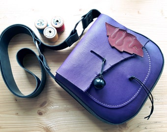 Leather Messenger Bag, Small across body gypsy bag, ARRIETY neverland 3156