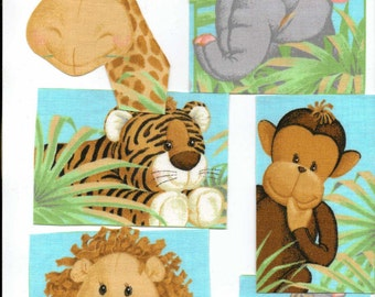 Jungle Babies  - Iron On Fabric Appliques