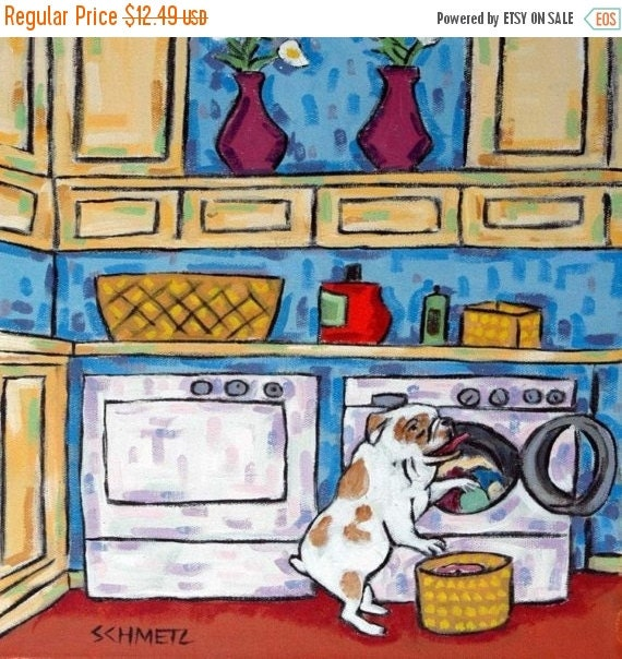 ON SALE bulldog, bulldog art, bulldog print on tile, laundry, laundry room art, dog tile, bulldog tile,coaster, gift, modern folk,