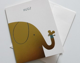 Elephant Hugs greeting card