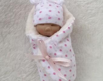 Hand Sculpted Bundle Bab Ooak Art Doll Newborn Lovinclaydolls Lisa Haldeman Shower Gift Dollhouse Gender Reveal  Sculpt Clay