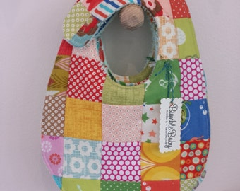 handmade baby patchwork bib