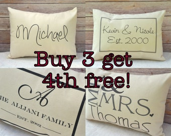 Personalized pillow gift idea gift set christmas gift set Grandmother pillow, couples pillow