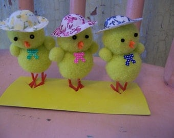 little yellow pom pom chicks
